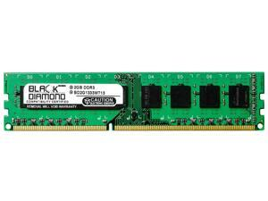 2GB RAM Memory for ASRock Motherboards P67 Extreme6 240pin PC3-10600 DDR3 DIMM 1333MHz Black Diamond Memory Module Upgrade