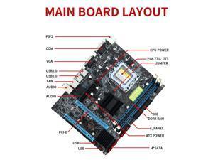 G41 Desktop Computer Motherboard LGA 775 DDR3 Support Dual Core Quad Core CPU(not included manual)