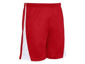 CHAMPRO SS30YSCWL CHAMPRO YOUTH SWEEPER SOCCER SHORTS SCARLET WHITE LARGE