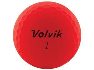 Volvik 9527 Volvik 2020 Vivid 3 Pc Golf Balls Matte Red
