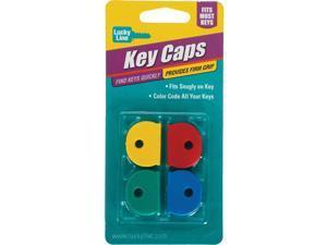 Lucky Line Vinyl Key Identifier Cap, Assorted Colors (4-Pack) 16504
