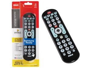 New Rca Rcrbb04gr 8-Device Big Button Universal Remote With Streaming And Dual N