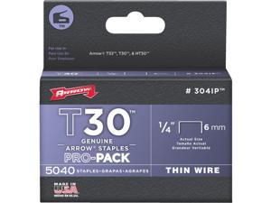 Arrow T30 Pro-Pack Thin Wire Staple, 1/4 In. (5040-Pack) 304IP
