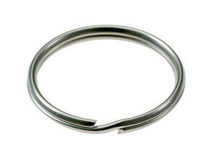Lucky Line Tempered Steel Nickel-Plated 1/2 In. Key Ring (100-Pack) 76000