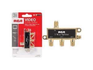 RCA VH48 Basic Series Video 3-way Signal Splitter