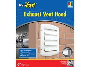 Dundas Jafine ProVent 6 In. White Louvered Dryer Vent Hood BLH6WZW