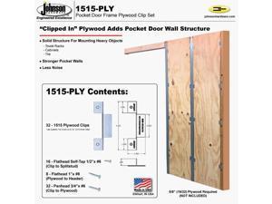 Johnson Hardware Pocket Door Frame Clip Set 1515-PLY
