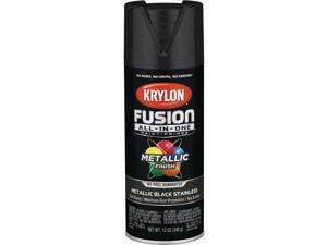 Krylon Fusion All-In-One Metallic Spray Paint & Primer, Black Stainless