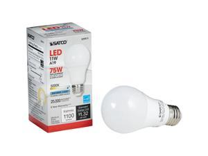 Satco 40W Equivalent Warm White A19 Medium Dimmable LED Light Bulb S29830