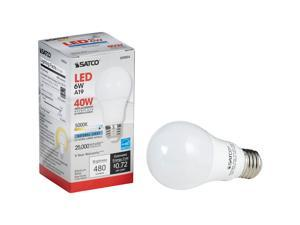 Satco 40W Equivalent Natural Light A19 Medium Dimmable LED Light Bulb S29834
