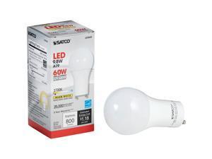 Satco 60W Equivalent Warm White A19 GU24 LED Light Bulb S29840