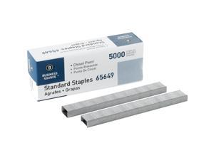 Business Source Standard Staples Chisel Point 210 Strip 5000/BX SR 65649