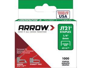 Arrow JT21 Light Duty Staple, 1/4 In. (1000-Pack) 214 Pack of 5