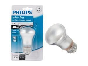 Philips 40W Clear Medium R16 Indoor Incandescent Mini Spotlight Light Bulb