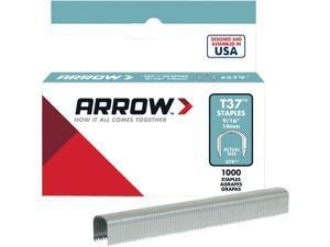 "Arrow Fastener 379 T37 9/16"" Round Crown Staples, 1000/Pk"