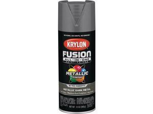 Krylon Fusion All-In-One Metallic Spray Paint & Primer, Dark Metal K02769007