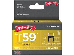 "Arrow Fastener 591188BL 5/16"" x 1/4"" Black T59 Insulated Staples"