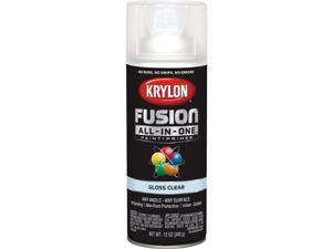 Krylon Fusion All-In-One Gloss Spray Paint & Primer, Clear K02705007