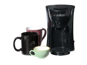 Salton 1-Cup Black Space Saving Coffee Maker FC1205