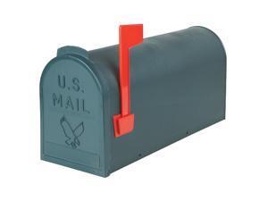 Flambeau No. 1 Green Plastic Rural Post Mount Mailbox TR4505GR