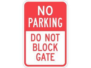 LYLE T1-1096-HI_12x18 Gate No Parking Sign, 12 in W, 18 in H, English,
