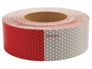 """Oralite Reflective Tape, 5 yr 6"""" Red/6"""" White  Polyester  18820"""