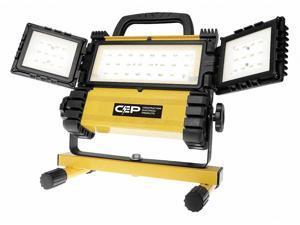 "CEP 5220 Job Site Light,Max Extension 24"" H,125V"