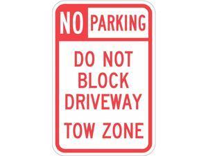 "LYLE T1-1099-HI_12x18 Tow Zone No Parking Sign, 12"" W, 18"" H, English,"