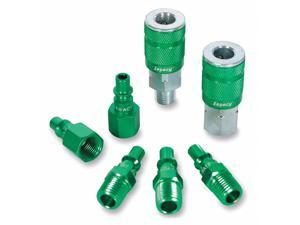 LEGACY A71457B Coupler/Plug Kit,1/4,Steel/Aluminum