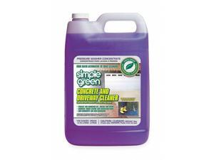 Simple Green Concrete Cleaner, 1 gal. Jug, Unscented Liquid, 1:10 to 50:50, 1 EA
