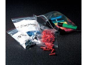 "MINIGRIP RED LINE MGRL2P0609 Reclosable Poly Bag Zipper Seal 9"" x 6"", 2 mil,"