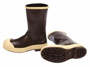 "12""H Men's Mid-Calf Boots, Steel Toe Type, Neoprene Upper Material, Tan, Size 10"
