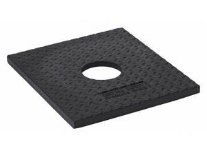 "ZORO SELECT 03-730 Delineator Base,Black,15""L,1""H,17""W"