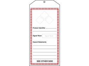 Accuform GHS Tags, Product Identifier  Cardstock Includes Labels THS401CTM