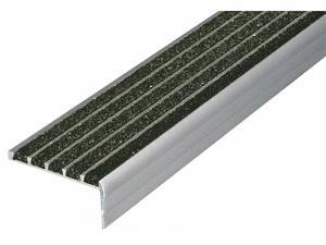 WOOSTER PRODUCTS 132BLA5 Stair Nosing,Black,60in W,Extruded Alum