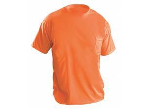 Occunomix Hi-Visibility Orange Polyester T-Shirt, Size: XL XL LUX-XSSPB-OXL