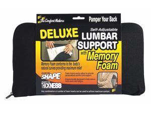 The Comfortmakers Polyolefin, Urethane Foam Backrest, Black 92061