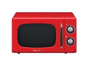 Magic Chef RA50849 0.7 cu. ft. 700W Retro Microwave, Red