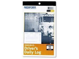 Rediform Carbonless 2-part Drivers Daily Log Book - 2 Part - (s5031ncl)