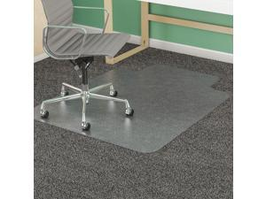 """Traditional Lip Chair Mat, Clear, For Carpet with Padding Up to 1"""" Thick"""