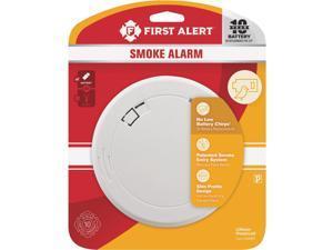 First Alert 10-Year Sealed Battery Photoelectric Slim Round Smoke Alarm 1039852