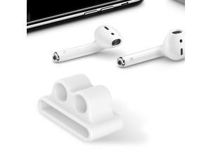Bluetooth Earphone Fixed Band Shock Resistant Silicone Holder for Apple AirPods white