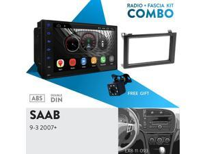 """UGAR EX10 7"""" Android 10.0 DSP Car Stereo Radio Plus 11-093 Fascia Kit Compatible with SAAB 9-3 2007+"""