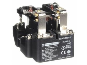 Square D Open Power Relay,8 Pin,120VAC,DPDT HAWA 8501CO16V20