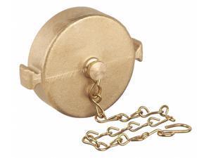 Fire Hose Cap, 2-1/2 In. NST, Brass