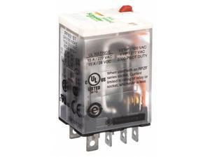 SCHNEIDER ELECTRIC RPM21B7 Plug In Relay,8 Pins,Square,24VAC