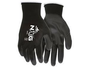 MCR Safety® NXG® PU Gloves, Large, Black, 12/Pair