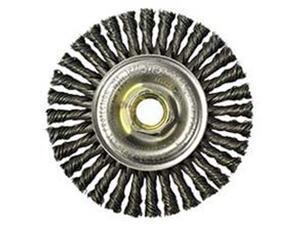 "Dualife Stba-432 Stringer Bead Twist Knot Wire Wheel, 4"" Dia, .02 Wire"