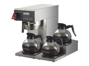 Coffee Pro 3-burner Commercial Brewer Coffee - Stainless Steel