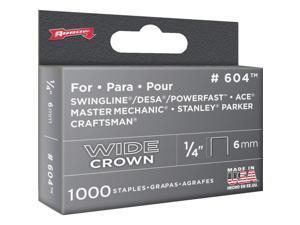 "Arrow Fastener 60430 1/4"" Wide Crown Heavy Duty Staples, 1000/Pack"